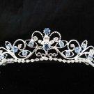 Wedding tiara;Fancy silver crystal blue tiara;bride bridesmaid headpiece ;opera accessories#11bl