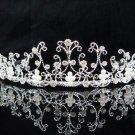 Wedding tiara;silver pearl crystal tiara ;bride bridesmaid headpiece ;opera accessories#5033s
