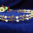 Golden Wedding tiara;crystal headband ;bride bridesmaid headpiece ;opera accessories#533g