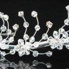 Floral Silver Bridal tiara;crystal wedding tiara ;bridesmaid headpiece ;opera accessories#8920