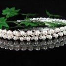 Silver Pearl Bridal Headband;crystal wedding tiara ;bridesmaid headpiece;Teen girt headband #2589