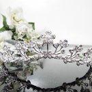 Silver Fancy Bridal tiara;crystal wedding tiara ;bridesmaid headpiece;Teen girt headband #1117