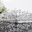 Silver Fancy Bridal tiara;crystal wedding tiara ;bridesmaid headpiece;Teen girt headband #1120