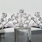 Silver Fancy Bridal tiara;crystal wedding tiara ;bridesmaid headpiece;Teen girt headband #1122