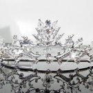 Silver Fancy Bridal tiara;crystal wedding tiara ;bridesmaid headpiece;Teen girt headband #1171