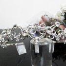 Silver Fancy Bridal tiara;crystal wedding tiara ;bridesmaid headband;Teen girt headband #3056