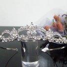 Silver Fancy Bridal tiara;crystal wedding tiara ;bridesmaid headpiece;Teen girt headband #cn31