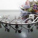 Silver Fancy Bridal tiara;crystal wedding tiara ;bridesmaid headpiece;Teen girt headband #882