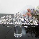 Silver Fancy Bridal tiara;crystal wedding tiara ;bridesmaid headpiece;Teen girt headband #1016