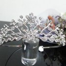 Silver Fancy Bridal tiara;crystal wedding tiara ;bridesmaid headpiece;Teen girt headband #1019