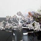Silver Fancy Bridal tiara;crystal wedding tiara ;bridesmaid headpiece;Teen girt headband #1021