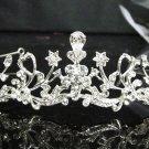 Silver Fancy Bridal tiara;crystal wedding tiara ;bridesmaid headpiece;Teen girt headband #1050