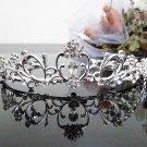 Silver Fancy Bridal tiara;crystal wedding tiara ;bridesmaid headpiece;Teen girt headband #1052