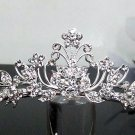 crystal wedding tiara;Silver Fancy Bridal tiara;;bridesmaid headpiece;Teen girt headband #1065