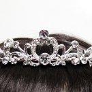 Silver Fancy Bridal tiara;crystal wedding tiara ;bridesmaid headpiece;Teen girt headband #1066