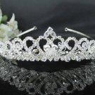 Sweet Bride regal ;Bridal Tiara;dancer regal ;Silver Rhinestone Wedding Headband;opera tiara#1624