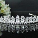 Silver Sparkle Bridal Tiara;Bride regal ;dancer regal ;Rhinestone Wedding Headband;opera tiara#6449
