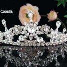Silver Bridal Tiara;Bride regal ;dancer regal ;Gorgeous Rhinestone Wedding Headband;opera tiara#658