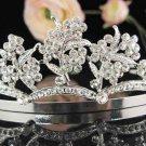 Silver Bridal Tiara;Bride regal ;dancer regal ;Gorgeous Rhinestone Wedding Headband;opera tiara#728