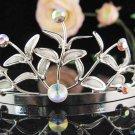 Silver Bridal Tiara;Bride regal ;dancer regal ;Gorgeous Rhinestone Wedding Headband;opera tiara#755