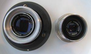 2 Vintage Schneider-Kreuznach Componar Photo Darkroom Lenses in Great Condition