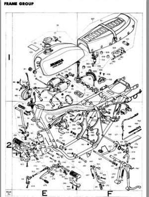 1975/1976 Honda CB400F SS XRAY Parts Specifications Complete in PDF File !