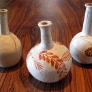 3 Ceramic Brazilian Vases by Jequitinhonha Valley Artist Jacinta circa 1985