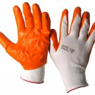 SWWW111WO-XL Dozen - Orange/White Nitrile Coated Work Gloves XL