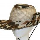 SWDSIDSI1145 - Brown Camo Safari Hat
