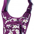 DSSWI1154 - Purple Crossbody Purse with Hawaiian flowers