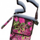 SWDSI1229 Ipad Bag Brown with Hawaian Flowers