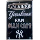 """SWFCYankees - 8"""" X 12"""" New York Yankees Fan Cave Tin Sign"""