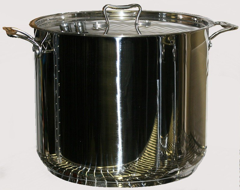 Commercial Grade Stainless Steel : ... - 22 QUART COMMERCIAL GRADE PROFESSIONAL STAINLESS STEEL STOCK POT