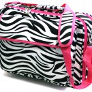SWDSI1237 -ZEBRA PRINT PINK TRIM LAPTOP BRIEFCASE