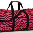 "20"" Pink with Black Zebra Print duffle Bag  SWDSI1015"
