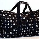 "20"" Black With White Doggie Paw Print Duffle Bag  SWDSI1018"
