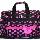 "SWDSI1036- 19"" Black w/Pink Dots & Bow Travel Bag"