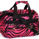 "SWDSI1038 -13"" Pink with Black Zebra Print travel Bag"