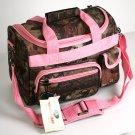 "SWDSI1041- Pink Straps Mossy Oak 14"" Travel Bag"