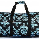 SWDSI1047- Black w/Blue Sheild Print Bag  SWDSI1047