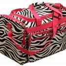 "22"" Black and white zebra print / pink trim travel Bag  SWDSI1134"