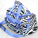 "SWDSI1136 - 16"" Black /White Zebra Print /Lavender trim travel Bag"