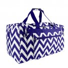 ROYAL BLUE AND WHITE 22 IN CHEVRON DUFFLE  SWDSI1177