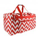 RED AND WHITE 22 IN CHEVRON DUFFLE  SWDSI1178