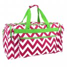 SWDSI1205 - PINK LIME GREEN 22 IN CHEVRON DUFFLE