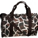 "SWDSI1224 - Duffle Bag 19"" Brown w/Giraffe Pattern"