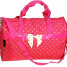 """SWDSI1225 - Duffle Bag 19"""" Pink with Green Dots"""