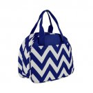 SWDSI1192 - Royal Blue with White Small Bowler Style Lunch Bag