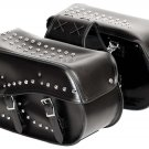 SWHH513 -2pc Studded Motorcycle Lugage Set