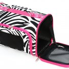 SWDSI534 L -16 INCH LARGE PET CARRIER ZEBRA WITH PINK TRIM